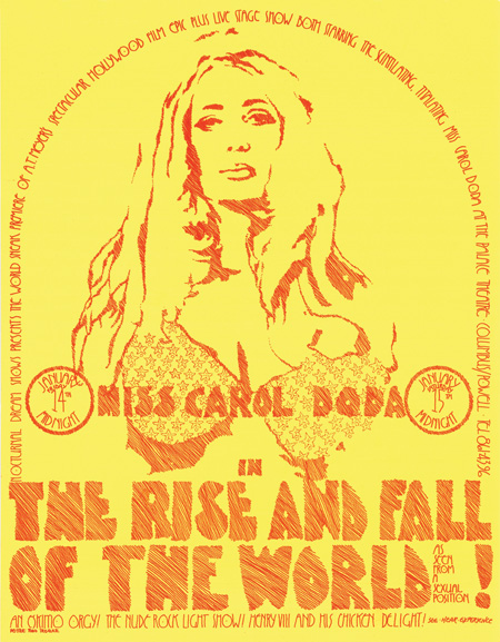 Nocturnal Dream Show World Premiere of Carol Doda Film The Rise and Fall of the World as seen from a Sexual Position Plus Stage Show January, 1973