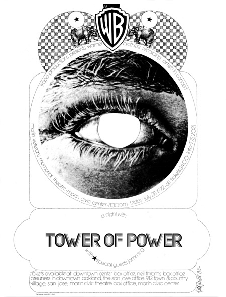 Nocturnal Dream Shows & Tropo Productions - Tower of Power in Concert Veterans Memorial Theater at Marin Civic Center July, 1972