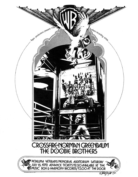 #34 - Tropo Productions Crossfire, Norman Greenbaum, The Doobie Brothers In live concert - Petaluma Veterines Memorial Auditorium July, 1972