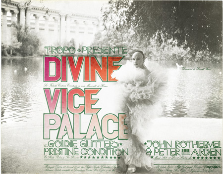 Divine in Vice Palace - poster by T. Trexler